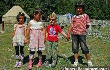 Kazachskie koleżanki w Górach Tien Szan