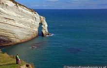 Klifowe wybrzeże na Wyspie Północnej
